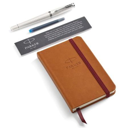 Купить Набор подарочный: ручка перьевая и блокнот Parker Urban Premium Pearl Metal CT