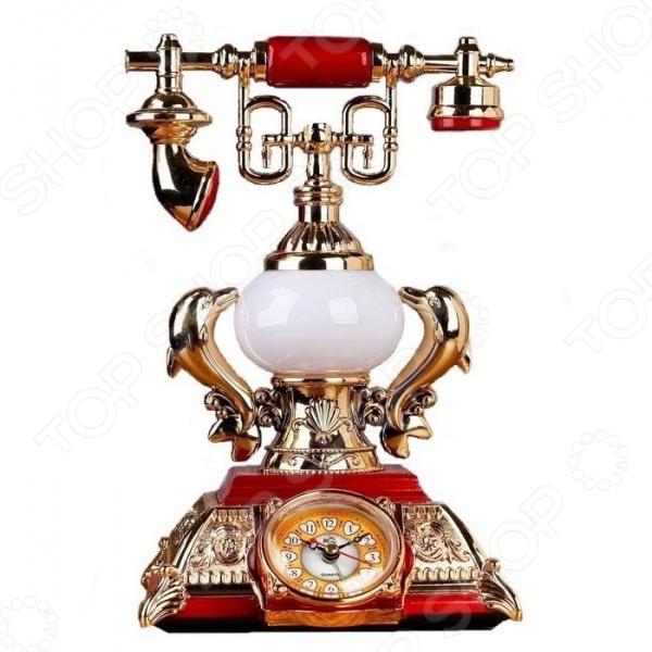 Часы-светильник настольные «Ретротелефон» с будильником