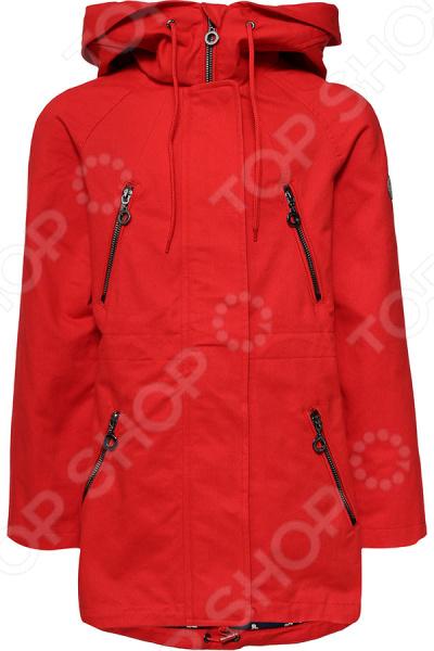 Куртка для девочки Finn Flare Kids KB17-71006. Цвет: красный