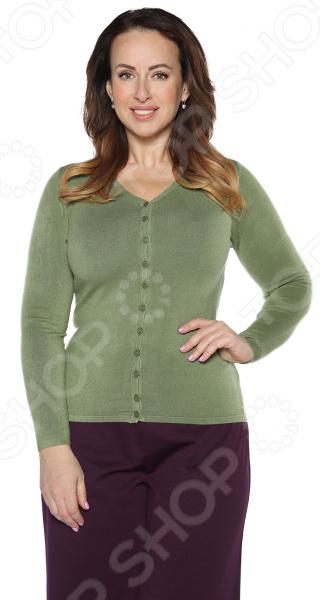 Кардиган Milana Style «Прекрасный вариант». Цвет: оливковый джемпер milana style улыбка радуги цвет оливковый