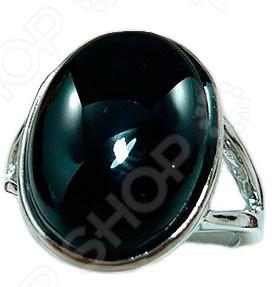Кольцо «Бяньши» с камнем из черного нефрита