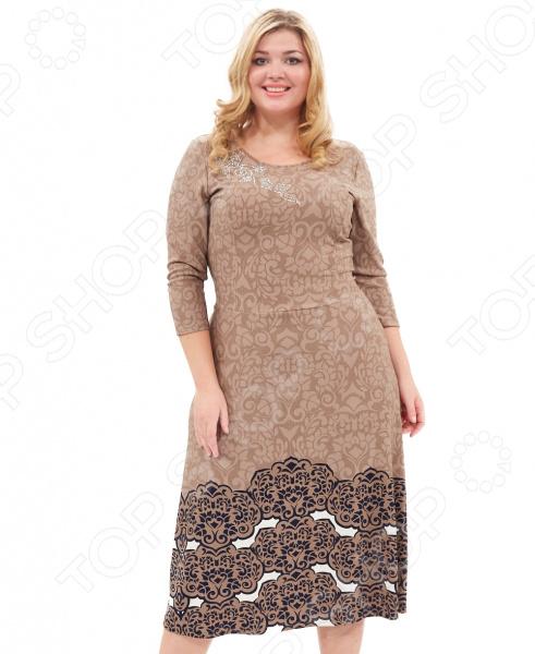 Платье Лауме-стиль «Счастье». Цвет: бежевый