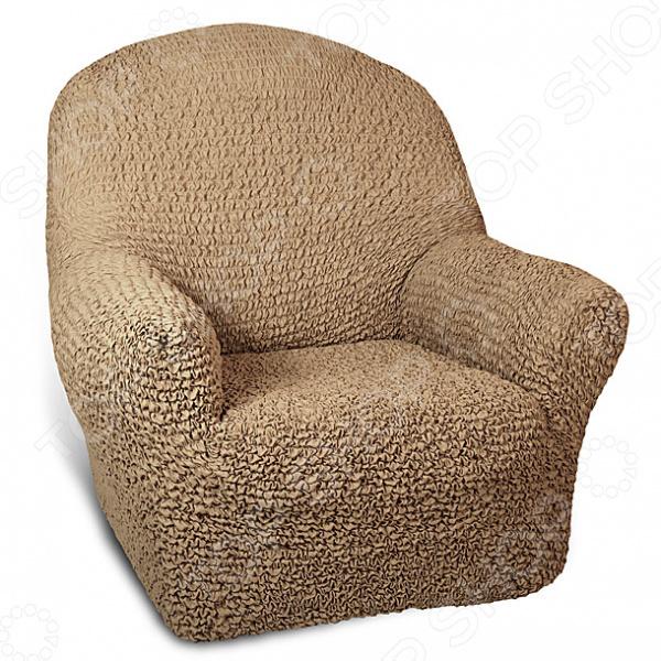 Натяжной чехол на кресло Еврочехол Еврочехол «Микрофибра. Кофейный»