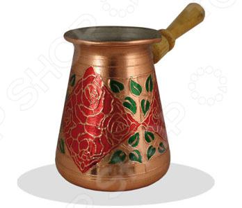 Турка со съемной ручкой TimA «Красная роза»