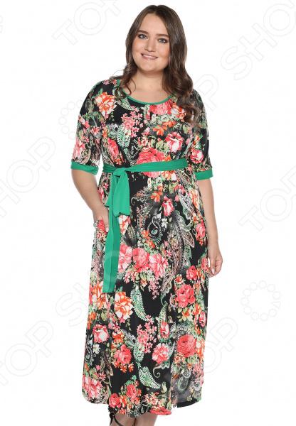 Платье Лауме-стиль «Секреты счастья». Цвет: красный