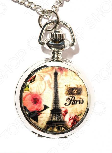 «Paris с красными цветами» Кулон-часы Mitya Veselkov «Париж с красными цветами»