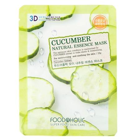 Купить Маска тканевая для лица FoodaHolic 3D с натуральным экстрактом огурца