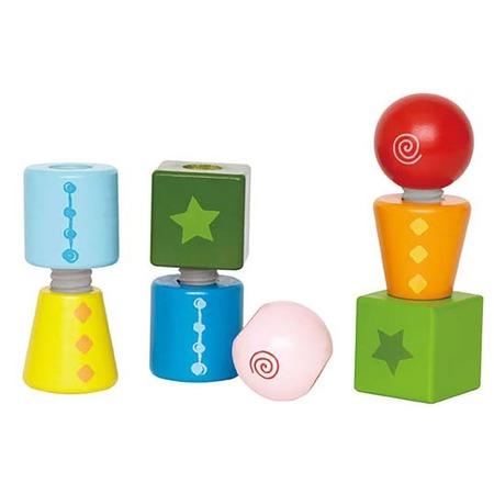 Купить Кубики с резьбой Hape Twist & Turnables