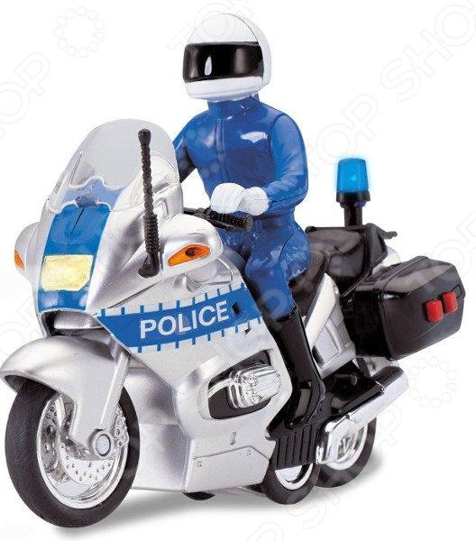 Мотоцикл со светозвуковыми эффектами Dickie 3712004. В ассортименте открытка со стикерами в ассортименте