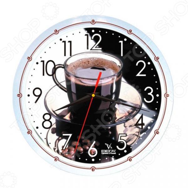 Часы настенные Вега П 1-7914/7-42 «Кофе» часы настенные вега п 4 14 7 86 новогодние подарки