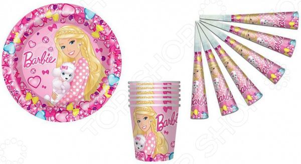 Набор аксессуаров для праздника Barbie №1 с дудочками