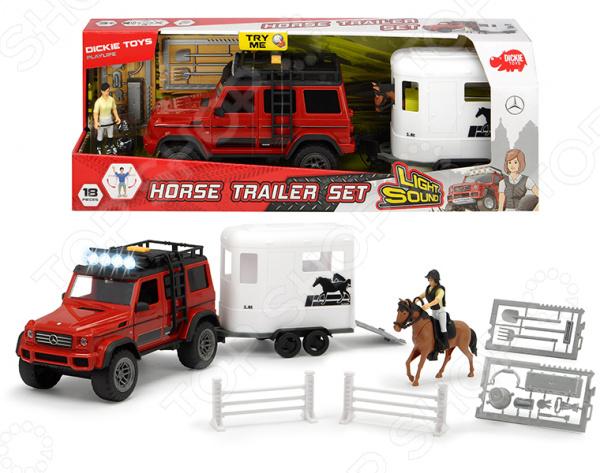 Машинка игрушечная с фигуркой Dickie «Перевозка лошадей»
