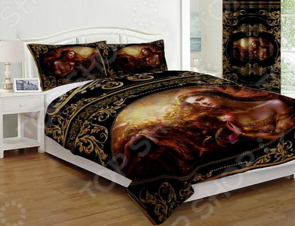 Комплект постельного белья «Византия». Цвет: черный. 1,5-спальный