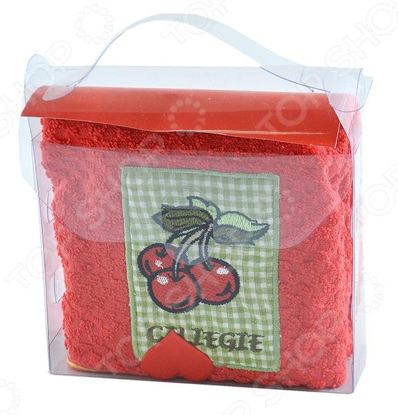 Комплект из полотенца и губки подарочный BONITA «Фруктовый сюрприз» подарочный набор для кухни bonita чайный сюрприз чашка и чайник 2 предмета