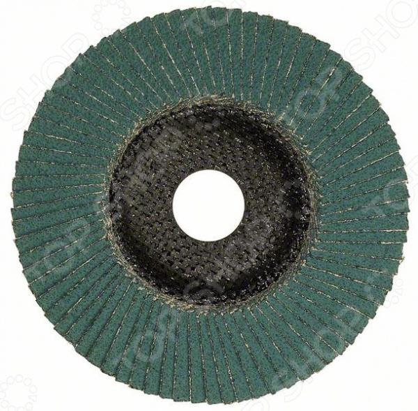 Круг лепестковый для угловых шлифмашин Bosch Best for Inox 2608607639 диск отрезной алмазный для угловых шлифмашин bosch best for ceramic