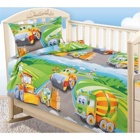 Купить Ясельный комплект постельного белья ТексДизайн «Дорожный патруль»