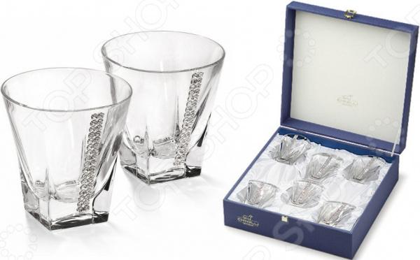 Набор бокалов для виски Chinelli «Регина Сваровски» кубик для виски в москве
