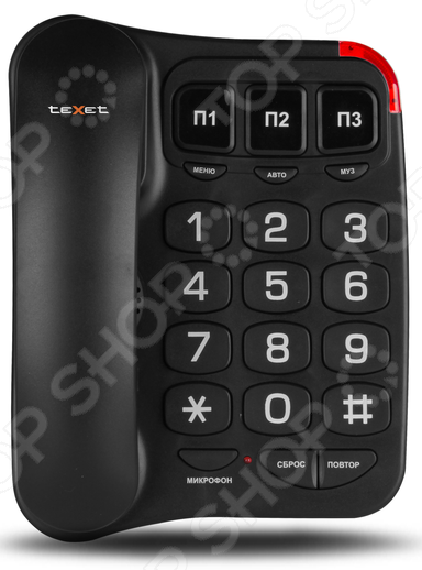 Телефон Texet TX-214 телефон проводной texet tx 201 белый