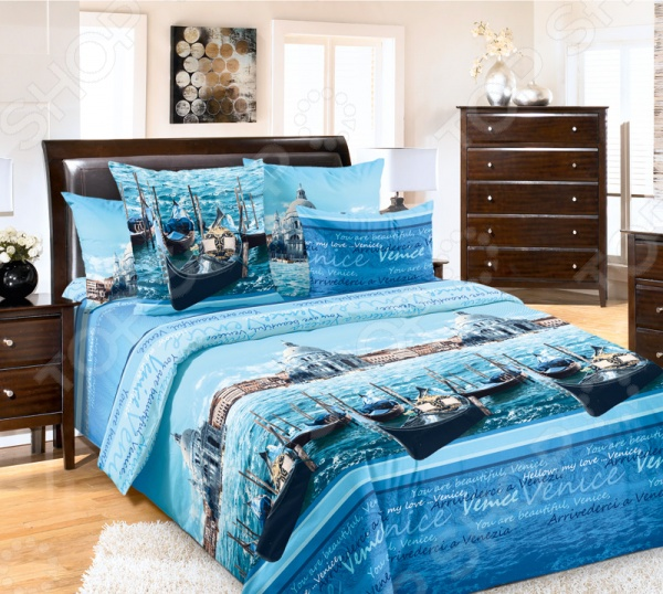 фото Комплект постельного белья ТексДизайн «Венеция». Евро, купить, цена