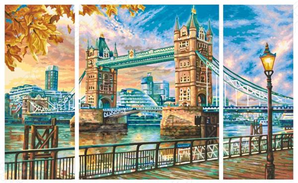 Набор для рисования по номерам Schipper «Триптих. Тауэрский мост» schipper картина триптих по номерам schipper орхидеи 50х80 см