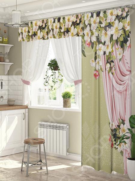 фото Комплект штор для окна с балконом ТамиТекс «Дефиле», Шторы для окна с балконом