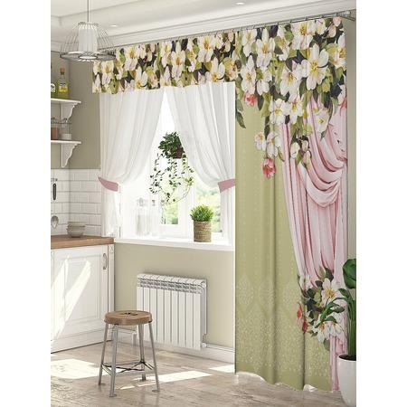 Купить Комплект штор для окна с балконом ТамиТекс «Дефиле»