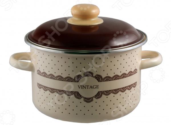 Кастрюля эмалированная Appetite Vintage