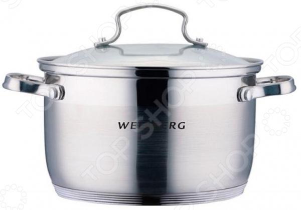 Кастрюля с крышкой Wellberg WB-0217 термокружка wellberg wb 9465