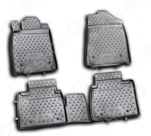 Комплект ковриков в салон автомобиля Novline-Autofamily Lexus ES 350 2010-2012