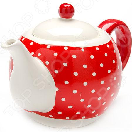 Чайник заварочный Loraine LR-25858 «Узор горошка»