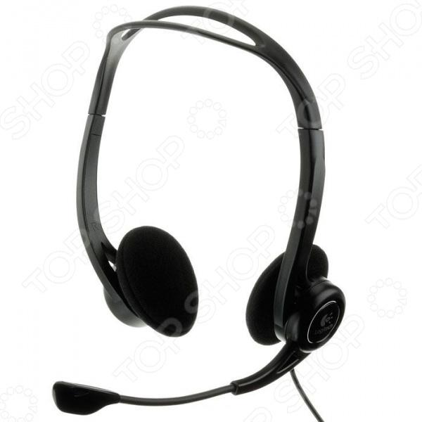 Гарнитура компьютерная Logitech PCHeadset 960USB philips pc headset shm7410u 10