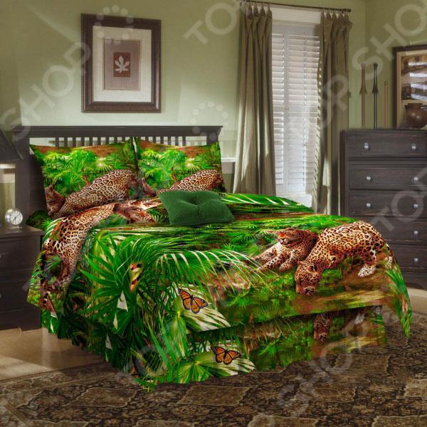 Комплект постельного белья Эго «Леопард». 1,5-спальный