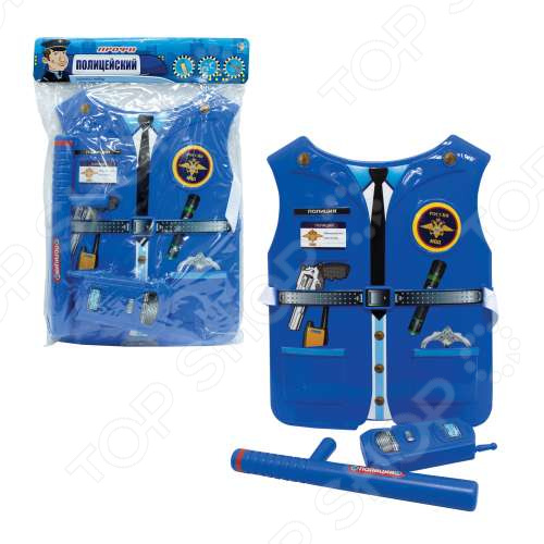 Игровой набор для ребенка 1 Toy «Костюм Профи с жилетом - Полицейский»