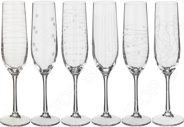 Набор бокалов для шампанского Bohemia Crystal Elements 674-519 bohemia crystal набор бокалов для шампанского felina 25 см 2 шт