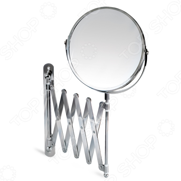 Зеркало косметическое Tatkraft Aurora зеркало двустороннее выдвижное tatkraft mega lock диаметр 15 см