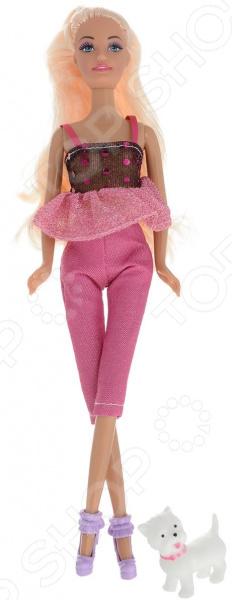 Кукла Toys Lab «Блондинка в розовом: Прогулка с щенком» toys lab летний домик toys lab тойз лаб