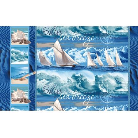 Купить Полотенце банное вафельное ТексДизайн «Морской бриз»