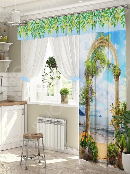 фото Комплект штор для окна с балконом ТамиТекс «Подъем», Шторы для окна с балконом