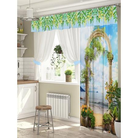 Купить Комплект штор для окна с балконом ТамиТекс «Подъем»