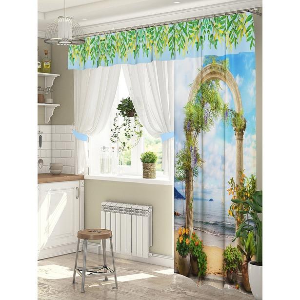 фото Комплект штор для окна с балконом ТамиТекс «Подъем»
