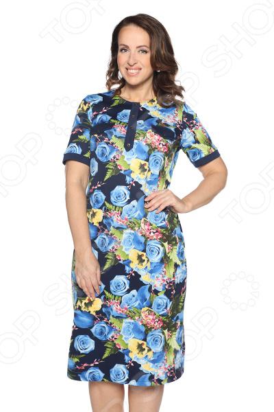 Платье ТРЕНД «В ритме танго». Цвет: синий
